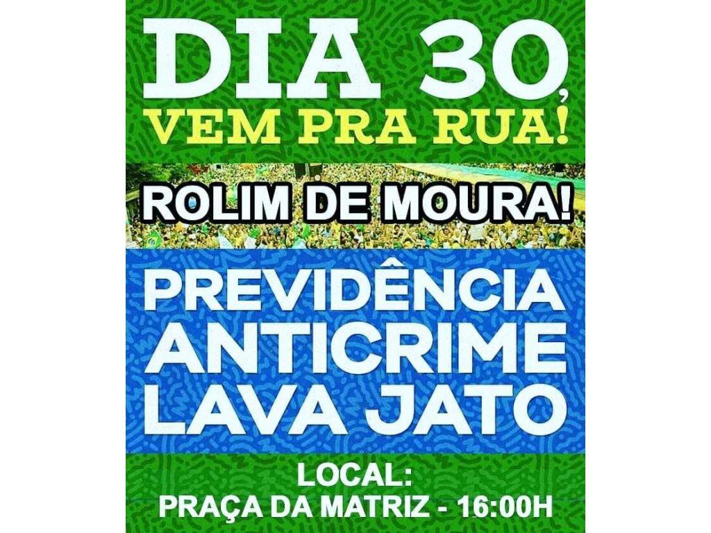 NESTE DOMINGO ( 30 ) OS LÍDERES PRÓ BOLSONARO CONFIRMA MANIFESTAÇÃO EM RONDÔNIA