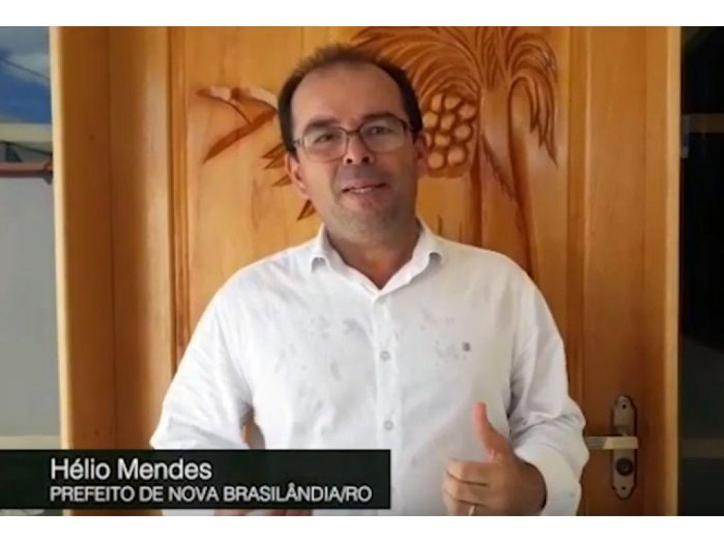 PROMOÇÃO PESSOAL :   PREFEITO DE NOVA BRASILÂNDIA PREPARA COMÍCIO DE LANÇAMENTO A REELEIÇÃO TRAVESTIDO  DE PRESTAÇÃO DE CONTAS A POPULAÇÃO.