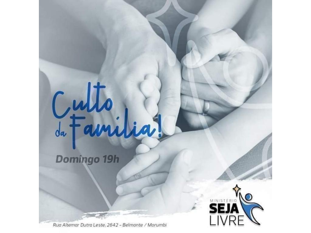 Ministério Seja Livre convida: Venha cultuar neste domingo!!!