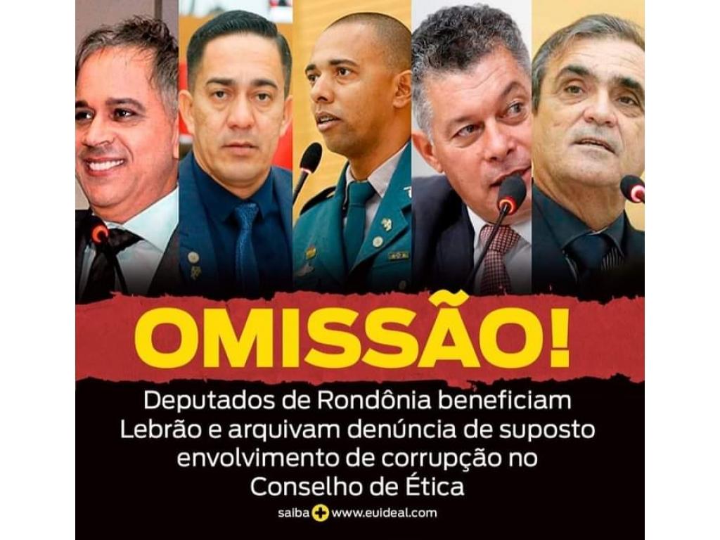 URGENTE VERGONHA:  Deputados de Rondônia arquiva a denúncia contra Lebrão, que foi filmado colocando suposto dinheiro no saco de lixo